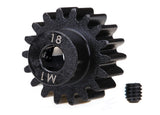 Traxxas Gear 18T Pinion Machined (1.0 Metric Pitch) 5mm Shaft/ Set Screw TRA6491R