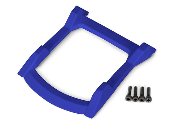 Traxxas Skid Plate, Roof (Body) (Blue)/ 3x12mm CS (4) TRA6728X