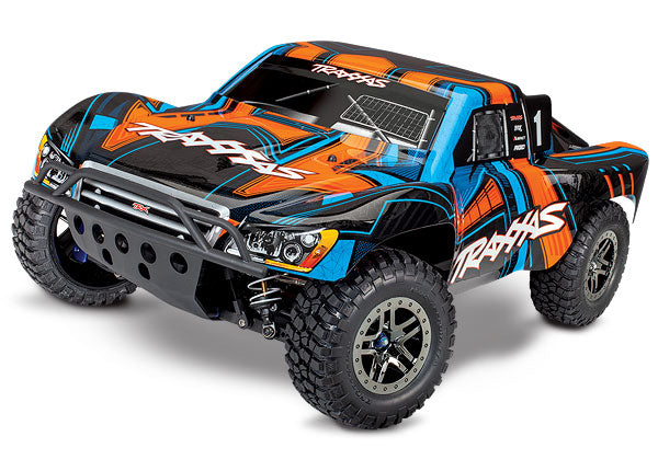 Traxxas Slash 4X4 Ultimate Edition: 1/10 Scale 4WD Electric Short Course Truck. Ready-to-Race® with TQi Radio System and Traxxas Link Wireless Module, Velineon VXL-3s Brushless ESC (fwd/rev), and TSM. TRA68077-4-ORNG