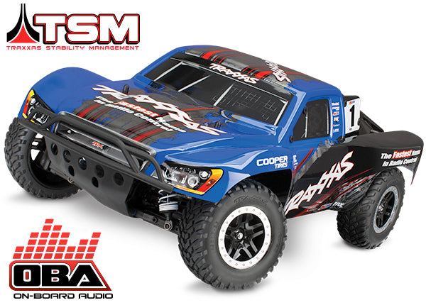 Traxxas Slash 4X4: 1/10 Scale 4WD Electric Short Course Truck with TQi Traxxas Link Enabled 2.4GHz Radio System, On-Board Audio, & Traxxas Stability Management (TSM) TRA68086-24