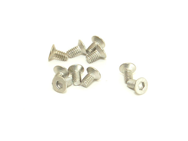 PN Racing M2x4 Titanium Countersunk Hex Machine Screw (10pcs) PNR700724