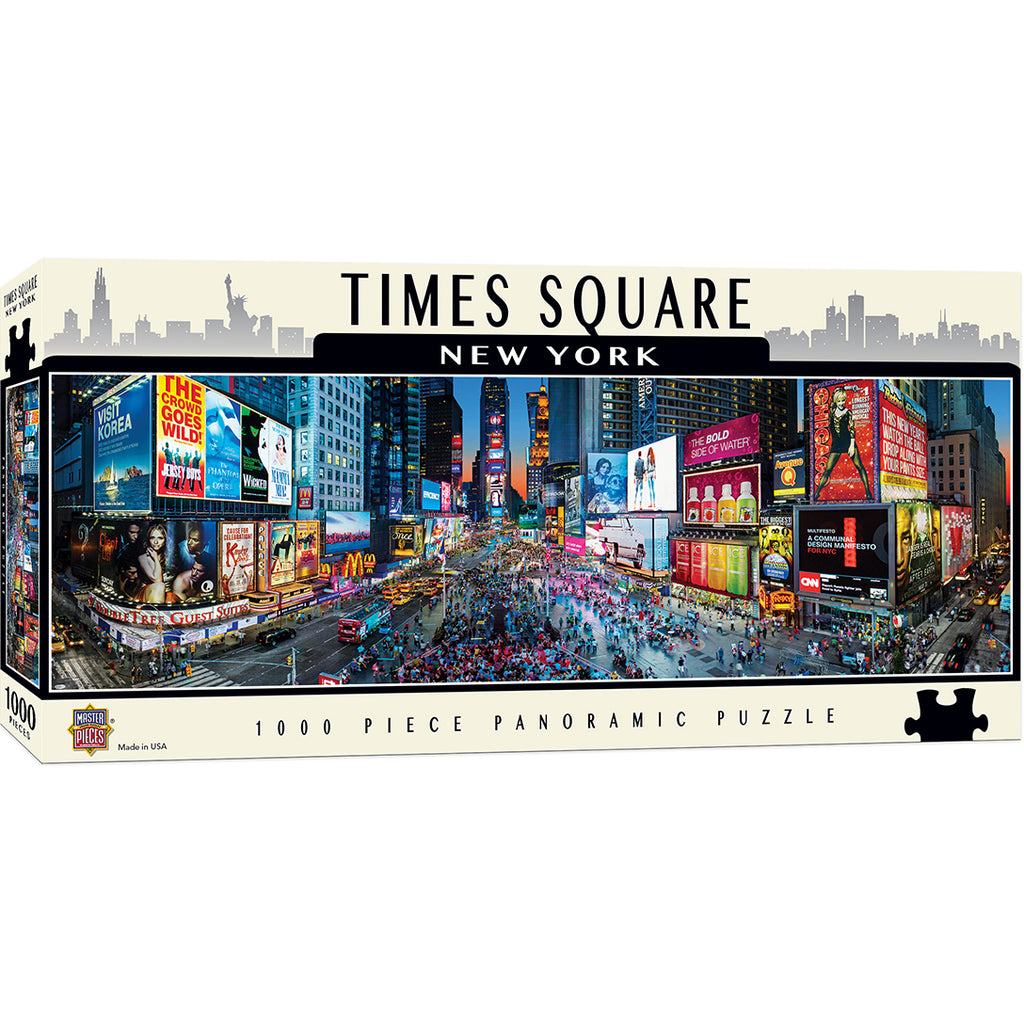 Masterpieces Puzzle Cityscapes - Times Square 1000 Piece Panoramic Jigsaw Puzzle MST71588