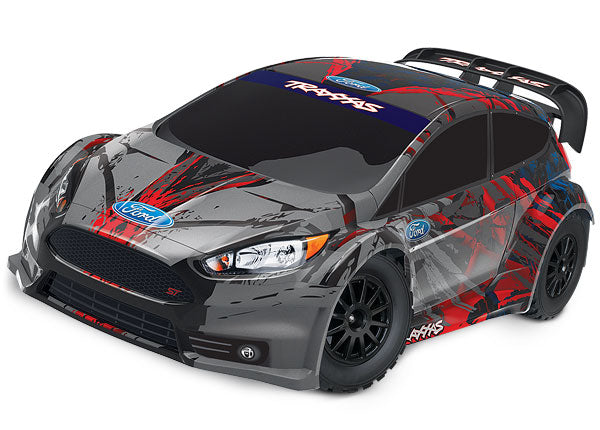 Traxxas Ford Fiesta ST Rally 1/10 Scale Electric Rally Racer with TQ 2.4GHz Radio System TRA74054-4