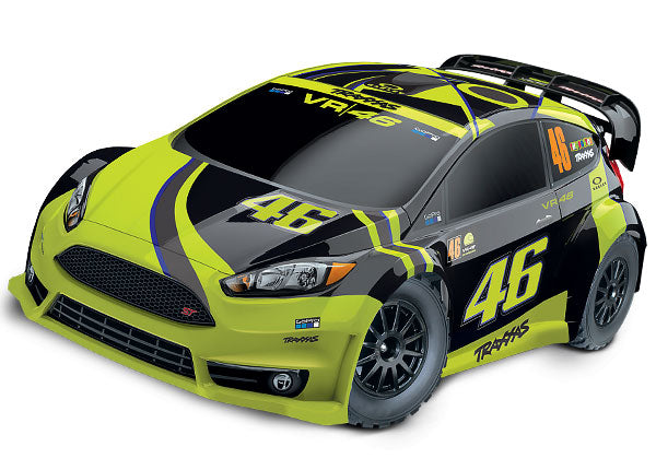 Traxxas Ford Fiesta® ST Rally: 1/10-scale Electric Rally Racer with Officially Licensed Painted Body. Ready-To-Race® with TQ 2.4GHz Radio System and XL-5 ESC (Fwd/Rev). TRA74064-4-VR46