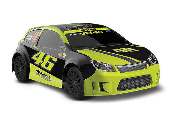 Traxxas LaTrax Rally: 1/18 Scale 4WD Electric Rally Racer with Officially Licensed Painted Body. Ready-To-Race® and Powered by Traxxas with ESC (Fwd/Rev) and Brushed Motor. Includes: 5-Cell NiMH 1200mAh LaTrax Battery with AC Charger TRA75064-5-VR46