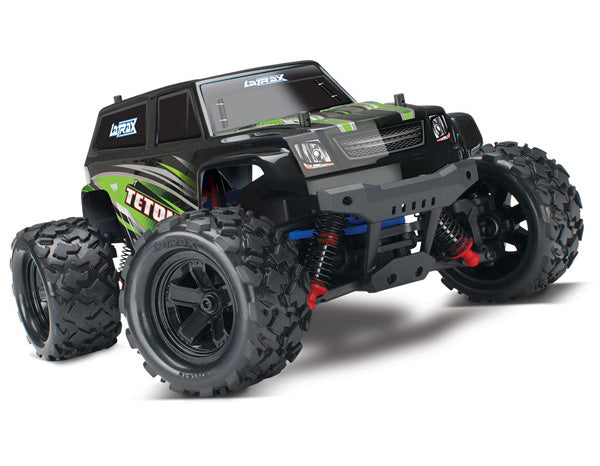 Traxxas LaTrax Teton: 1/18 Scale 4WD Electric Monster Truck. RTR w ESC (Fwd/Rev) Brushed Motor. Includes: 6-Cell 7.2V NiMH Battery w AC Charger TRA76054-5-GRN