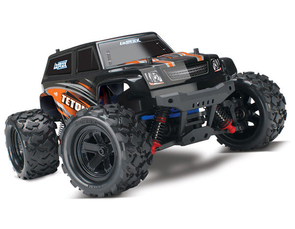 Traxxas LaTrax® Teton: 1/18 Scale 4WD Electric Monster Truck. Ready-To-Race® and Powered by Traxxas® with ESC (fwd/rev) and brushed motor. Includes: 6-Cell 7.2V NiMH Battery w AC Charger TRA76054-5-ORNG