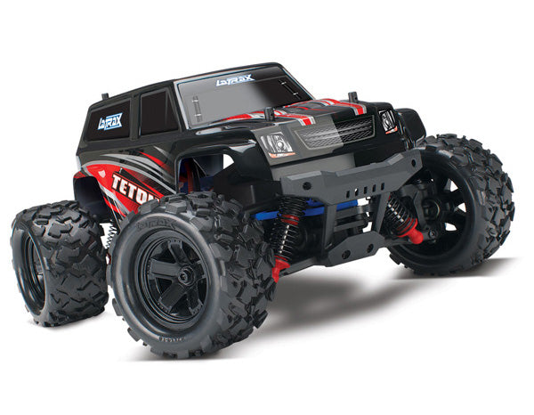 Traxxas LaTrax® Teton: 1/18 Scale 4WD Electric Monster Truck RTR and Powered by Traxxas® w ESC (Fwd/Rev) Brushed Motor. Includes: 6-Cell 7.2V NiMH Battery w AC Charger TRA76054-5-RED