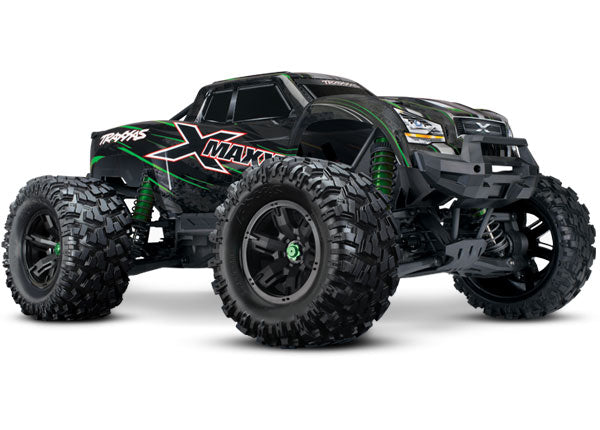 Traxxas X-Maxx Brushless Electric Monster Truck w TQi Traxxas Link™ Enabled 2.4GHz Radio System, Velineon® VXL-8s Brushless ESC (Fwd/Rev), and Traxxas Stability Management (TSM)® TRA77086-4-GRN