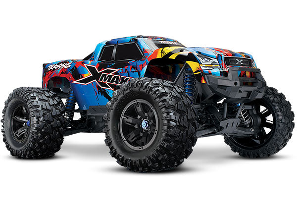 Traxxas X-Maxx®: Brushless Electric Monster Truck with TQi Traxxas Link Enabled 2.4GHz Radio System, Velineon VXL-8s Brushless ESC (Fwd/Rev), and Traxxas Stability Management (TSM)® TRA77086-4-RNR