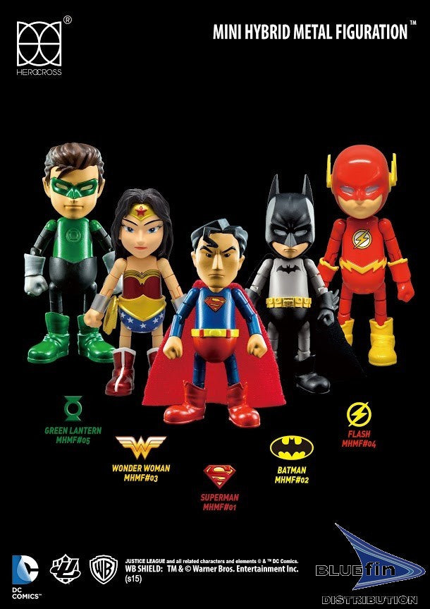 "Hero Cross Mini HMF Box: Justice League Series 0.5 (Box/4) ""DC Comics"" HRC78300"