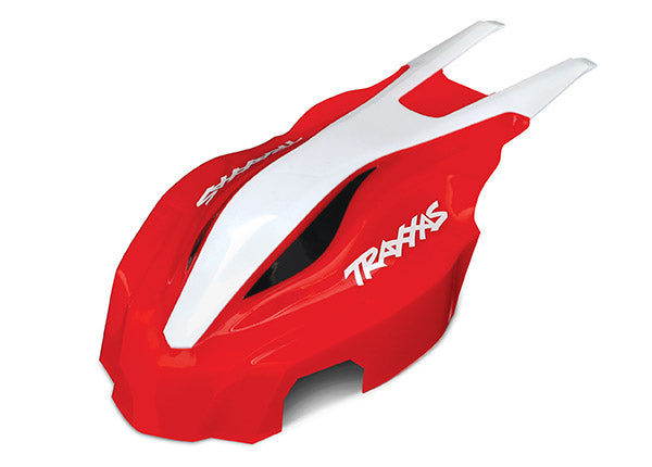 Traxxas Canopy, Front, Red/White, Aton TRA7911