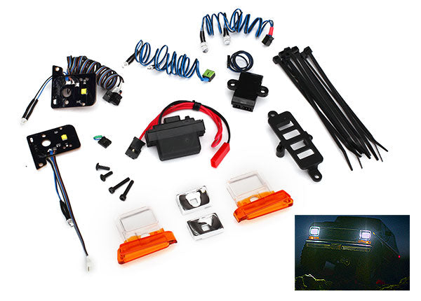 Traxxas LED Light Set, Complete w Power Supply (Contains Headlights, Tail Lights, Side Marker Lights, Distribution Block, and Power Supply) (Fits #8010 Body) TRA8035