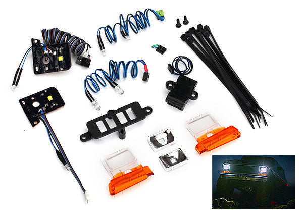 Traxxas LED Light Set (Contains Headlights, Tail Lights, Side Marker Lights, and Distribution Block) (Fits #8010 Body, Requires #8028 Power Supply) TRA8036