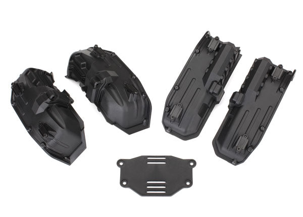 Traxxas Fenders, Inner (Narrow), Front & Rear (2 Each)/ Rock Light Covers (8)/ Battery Plate/ 3x8 Flathead Screws (4) TRA8080