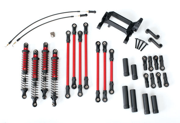 Traxxas Long Arm Lift Kit, TRX-4, Complete (Includes Red Powder Coated Links, Red-Anodized Shocks) TRA8140R