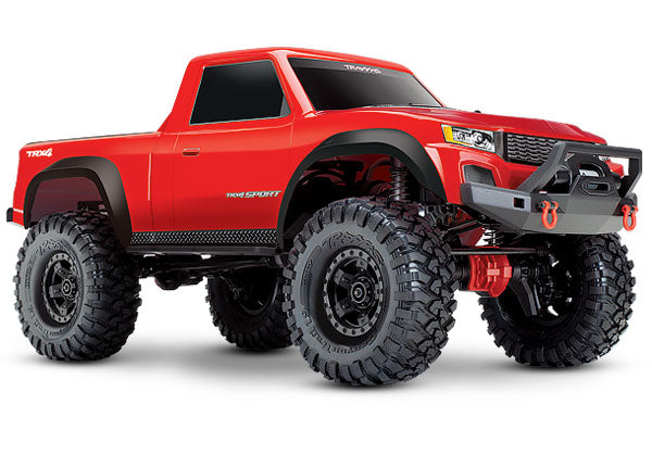 Traxxas TRX-4 Sport: 4WD Electric Truck with TQ 2.4GHz Radio System TRA82024-4-RED