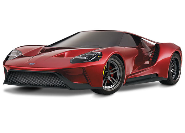 Traxxas Ford GT 1/10 Scale AWD Supercar TQi Traxxas Link Enabled 2.4GHz Radio System & TSM TRA83056-4-RED