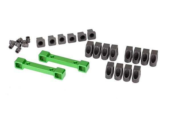 Traxxas Mounts, Suspension Arms, Aluminum (Green-Anodized) (Front & Rear)/ Hinge Pin Retainers (12)/ Inserts (6) TRA8334G