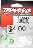 Traxxas Servo Saver Nuts, Aluminum, Green-Anodized (Hex (1), Serrated (1)) TRA8345G