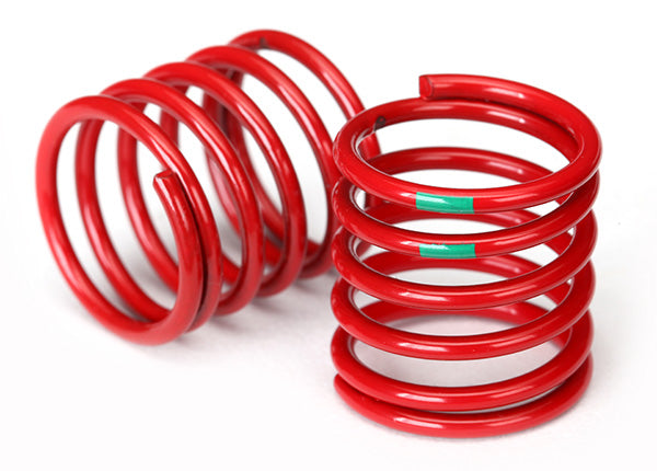 Traxxas Spring Shock (Red) (4.075 Rate Green Stripe) (2) TRA8363