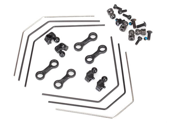 Traxxas Sway Bar Kit 4-Tec 2.0 (Front/Rear) (Includes Front Rear Sway Bars Adjustable Linkage) TRA8398