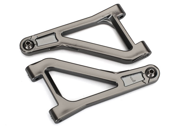 Traxxas Suspension Arms, Upper (Left & Right) (Satin Black Chrome-Plated) (Assembled with Hollow Balls) TRA8531X