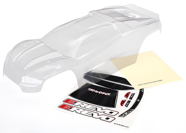 Traxxas Body E-Revo (Clear, Requires Painting)/Window, Grill, Lights Decal Sheet TRA8611