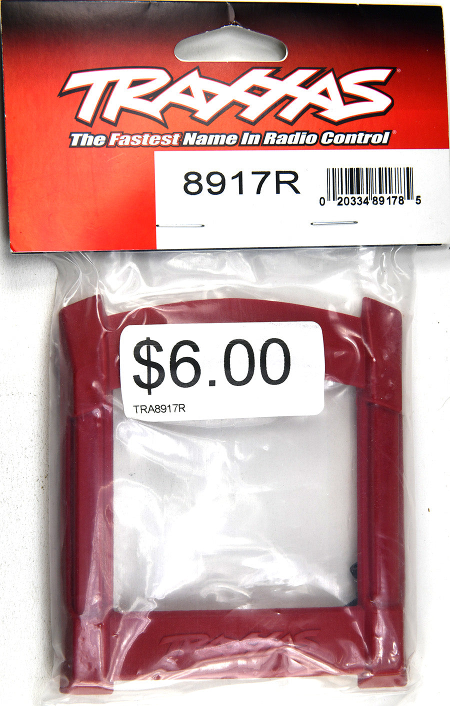 Traxxas Skid Plate, Roof (Body) (Red)/ 3x12mm CS (4) TRA8917R