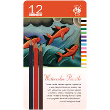 Pentalic Tin Set - 12 Watercolour Pencils PTL897212