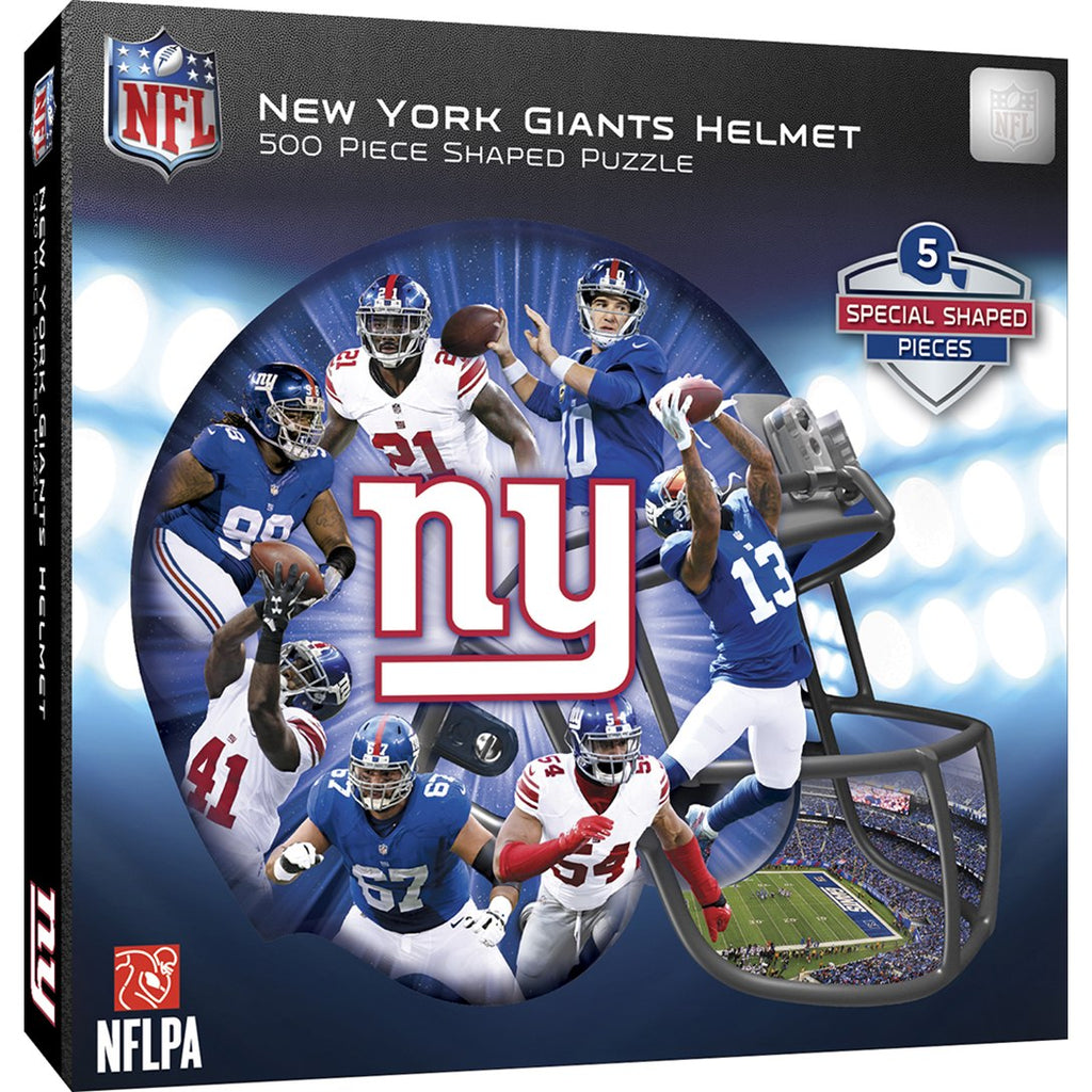 Masterpieces Puzzle New York Giants 500 Piece Helmet Shaped Jigsaw Puzzle MST91664