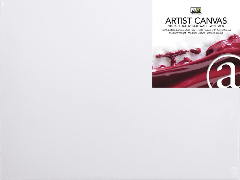 "ART ADVANTAGE Art Advantage 22"" x 28"" Artist Canvas Twin Pack ART1250-22TP"