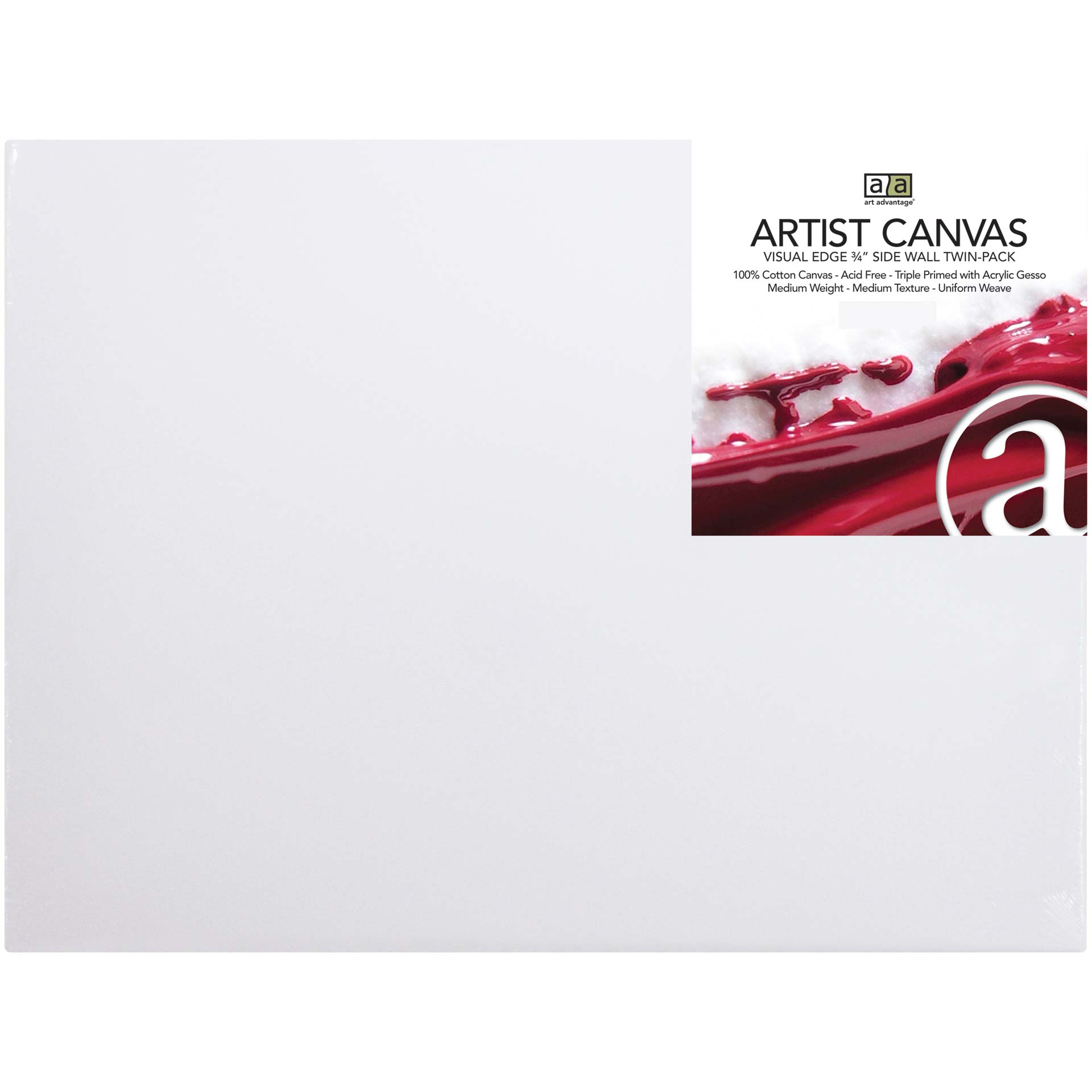 C2f 9x12 Twin Pack Prestretched Canvas ART125009TP