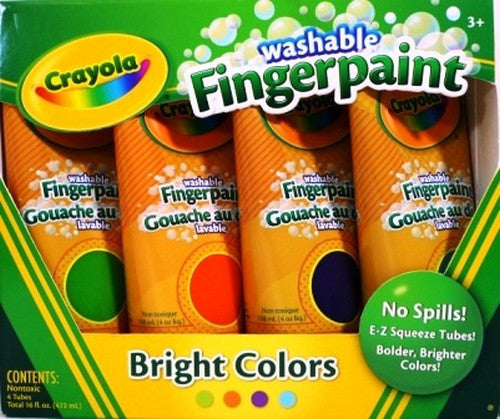 Binney & Smith Fingerpaint Bright Washable BIN55-0012