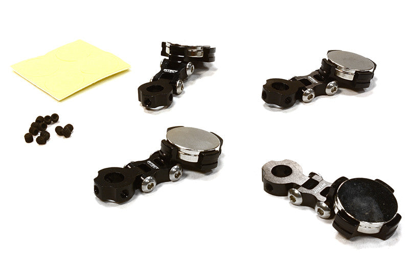 Integy Billet Machined T2 Adjustable Stealth Body Mount Set for 1/10 Drift, Touring Car INTC26282BLACK