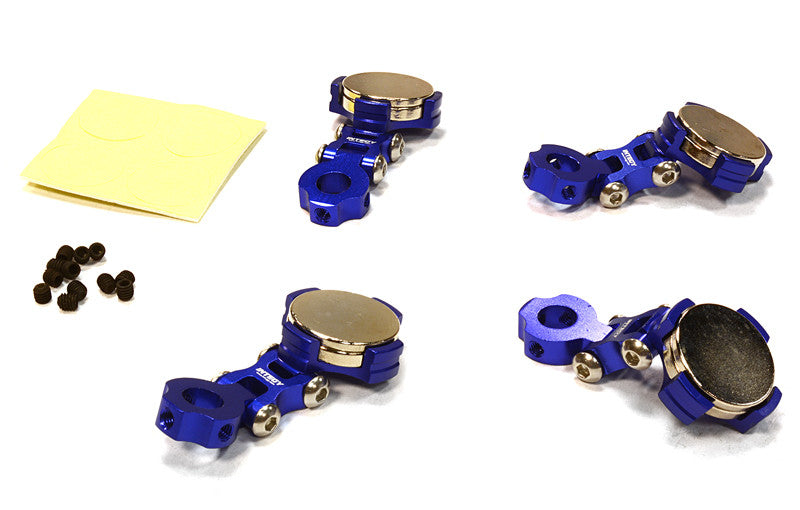Integy Billet Machined T2 Adjustable Stealth Body Mount Set for 1/10 Drift, Touring Car INTC26282BLUE