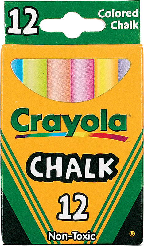 Crayola Colored Chalk 12 Stick Set CRA510816