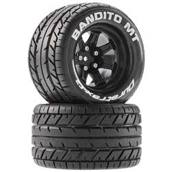 DuraTrax Bandito MT 1/10 2.8 Mounted Black14mm Tires DTXC5250