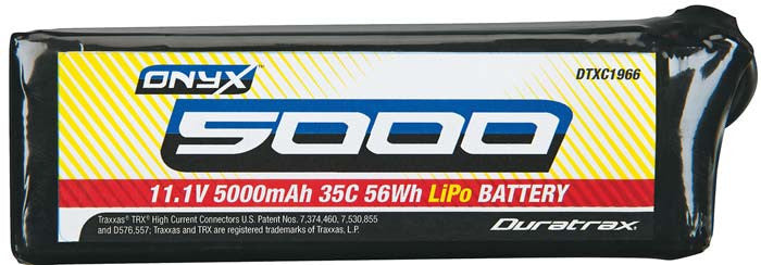 Duratrax 11.1V 5000mAh 35C Soft Case Traxxas Battery