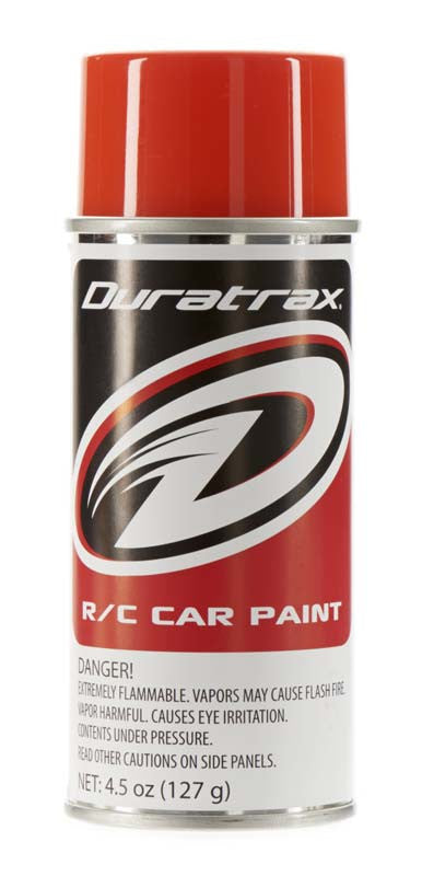 Duratrax Competition Orange 4.5 oz Polycarb Spray Paint DTXPC256