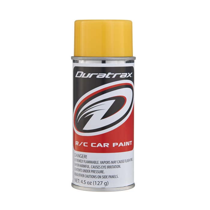 Duratrax Mellow Yellow 4.5 oz Polycarbonate Spray Paint