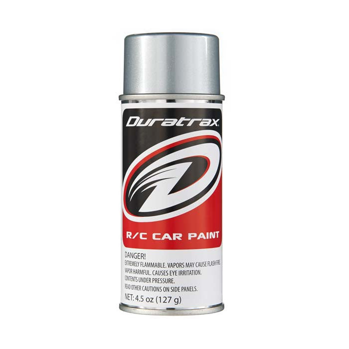 Duratrax Silver Streak 4.5 oz Polycarbonate Spray Paint