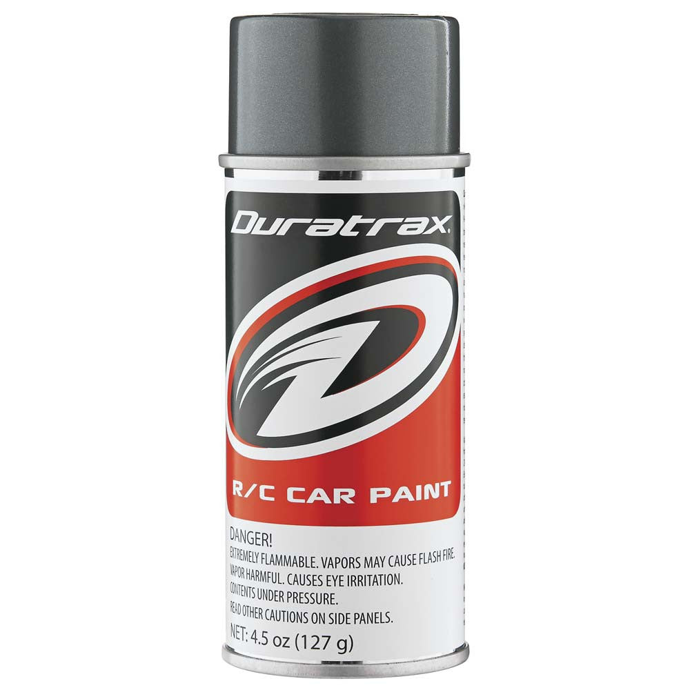 Duratrax Gunmetal 4.5 oz Polycarbonate Spray Paint