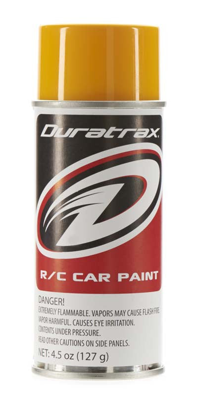 Duratrax Bright Yellow 4.5 oz Polycarbonate Spray Paint