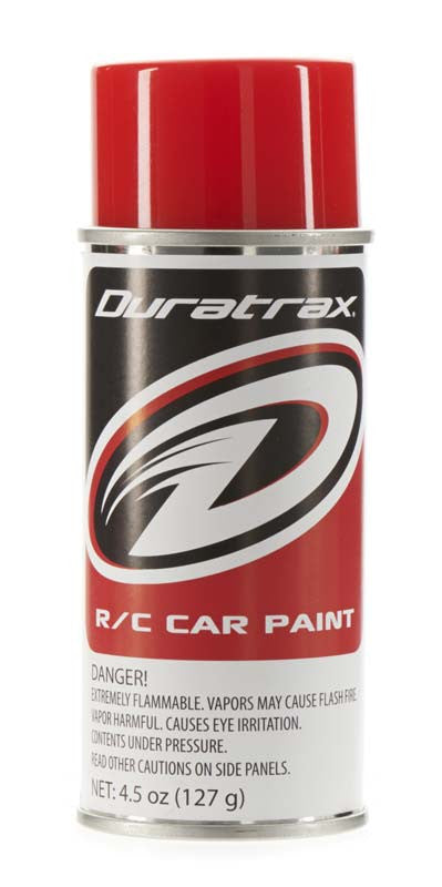 Duratrax Bright Red 4.5 oz Polycarbonate Spray Paint