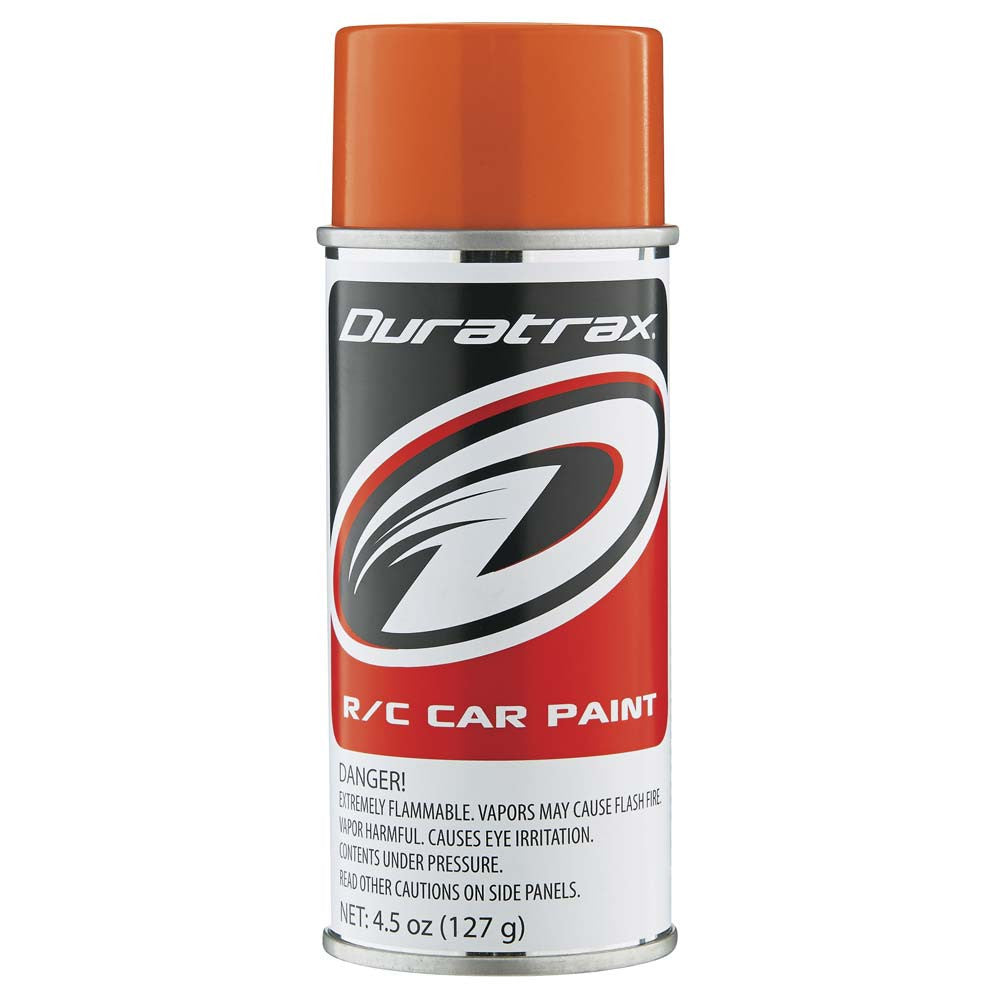 Duratrax Candy Orange 4.5oz Polycarbonate Spray Paint
