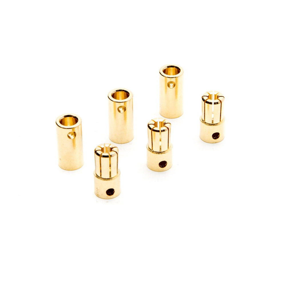 Dynamite Connector: Gold Bullet Set, 6.5mm (3) DYNC0091