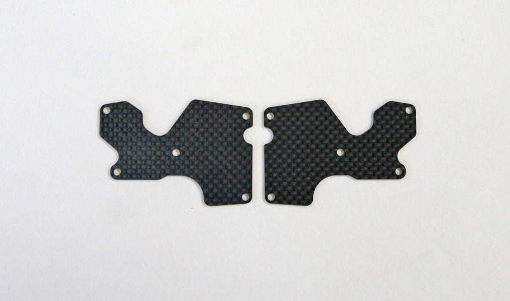 Mugen Graphite Rear Lower Suspension Arm Mount Plate 2pcs (1.2mm): X8 MUGE2157