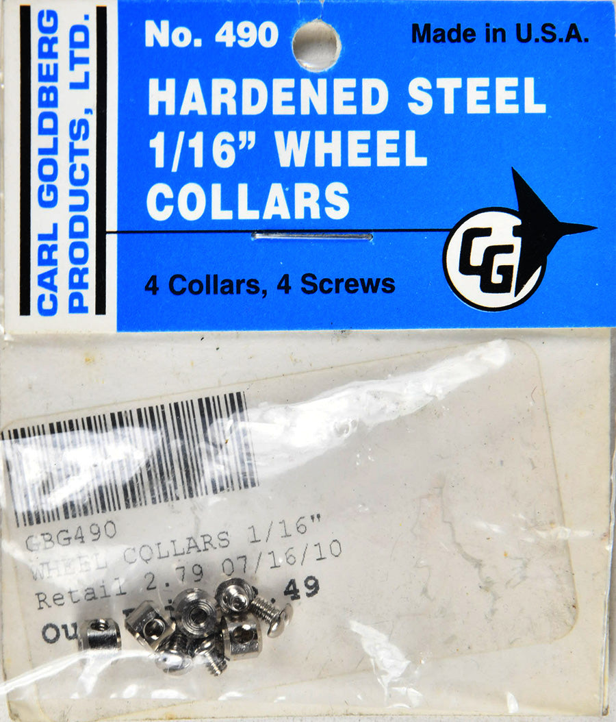 Carl Goldberg 490 1/16 Wheel Collars GBG490