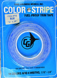 "Carl Goldberg 713 Blue 1/8"" x 36' Color Stripe Trim Tape GBG713"